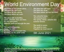 World environment day 5jun2021